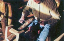 Using a Drawknife